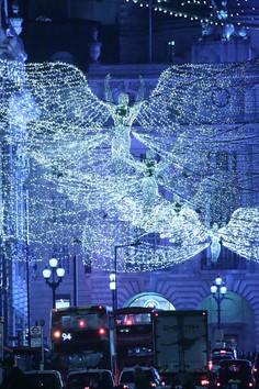 Christmas Angels . Lower Regents Street