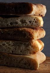 Stack of Italian bread