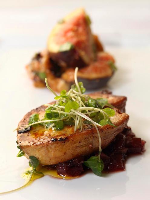 Seared foie gras with port sauce