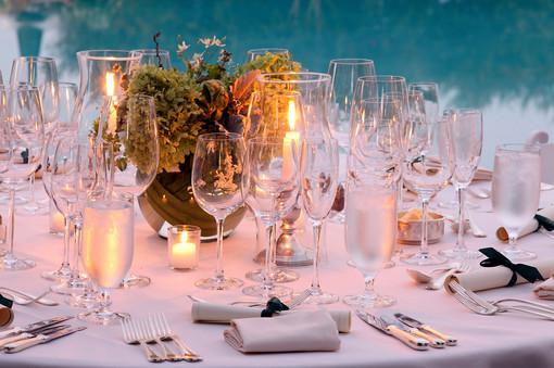 Dinner at Keswick Hall, Virginia