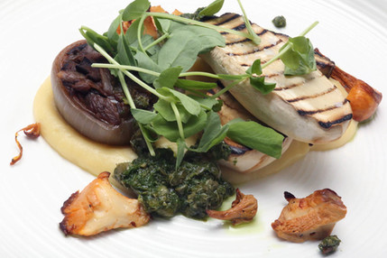 Grilled mushroom with pickled cep