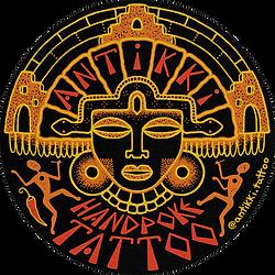 Antikki Sticker Logo with paper effect.p