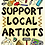 Thumbnail: Colouring In Poster - Support Local Artists