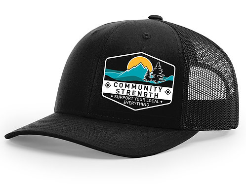 Community Strength - Black Trucker Hat