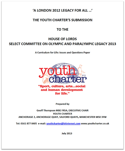 YC submission to London 2012 Olympic & Paralympic Legacy inquiry (2013)