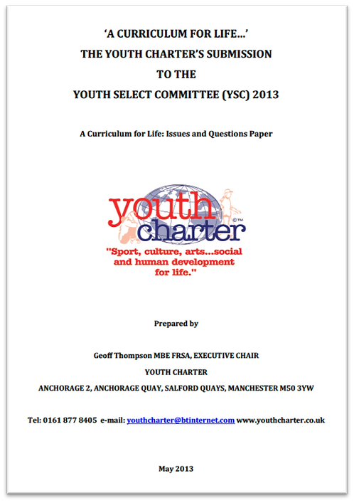 YC Curriculum for Life submission to Youth Select Committee (2013)