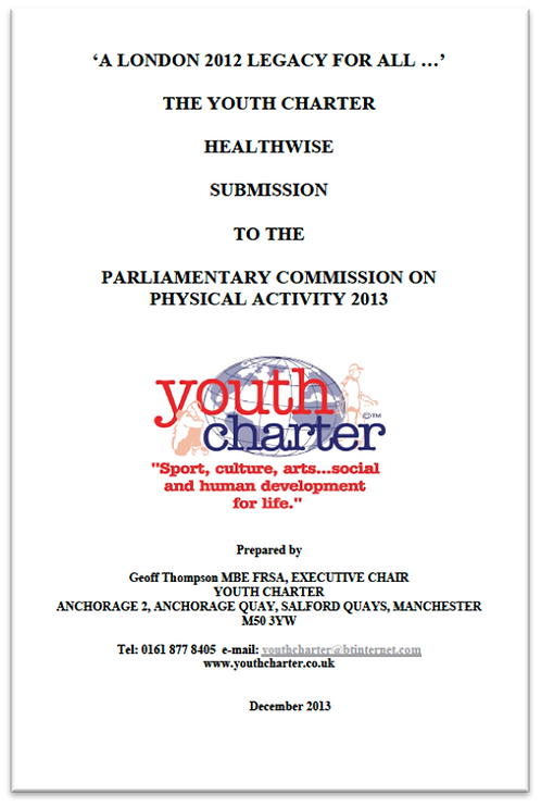 YC Healthwise submission to the All-Party Commission on Physical Activity (2013)