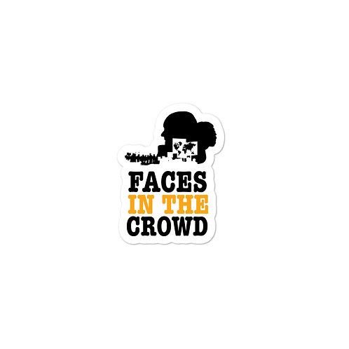 Faces In The Crowd Logo Sticker 1