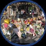 Floral Memorial to Baptista Ajay - Strat