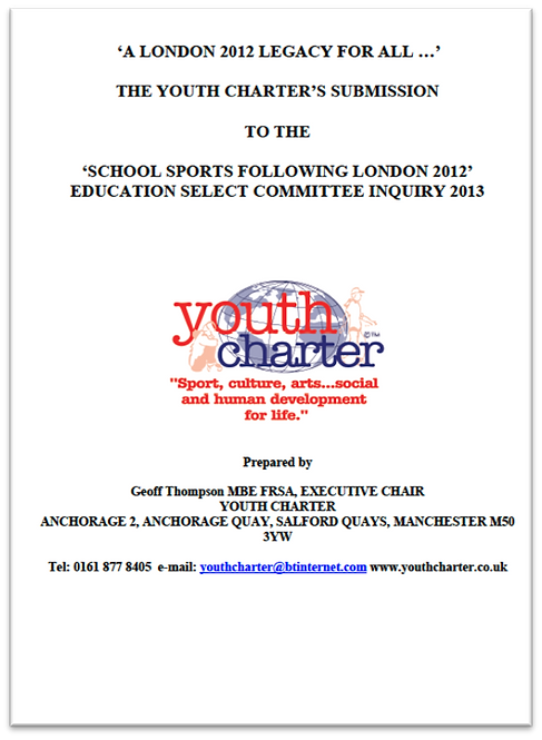 YC submission to inquiry into School Sport following London 2012 (2013)