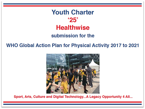 YC Healthwise submission to WHO Global Action Plan for Physical Activity (2017)