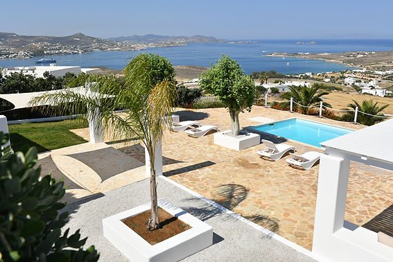 Althea villa 5 paros pool view
