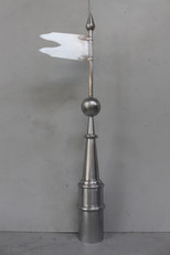 Girouette drapeau en zinc