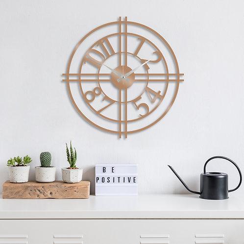 Metal Wall Clock 33 - Copper