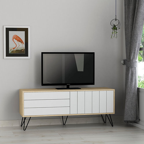 Picadilly Tv Stand - Oak- White