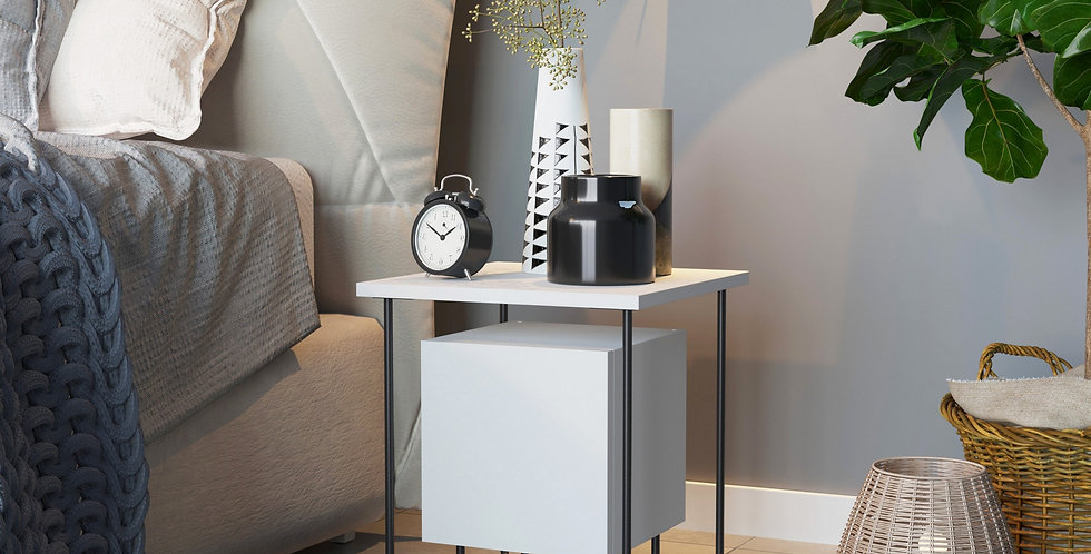 Acres Nightstand - White