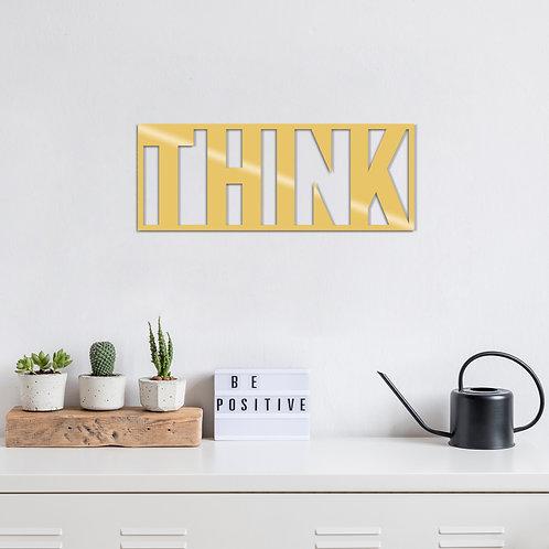 Th�nk Metal Decor - Gold
