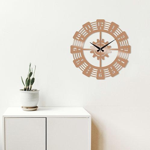 Metal Wall Clock 22 - Copper
