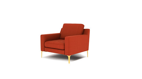 Normod Armchair - Red, Gold