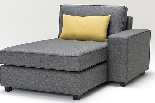 Doha Recliner Right - Grey