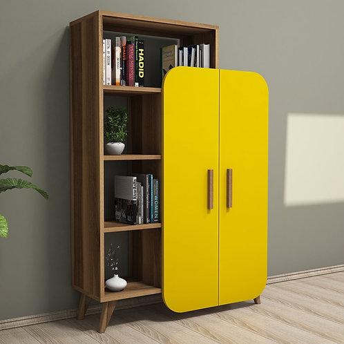 Form - Walnut, Yellow