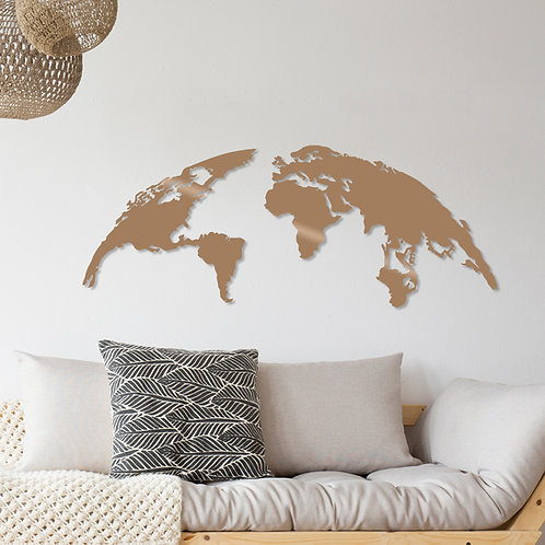 World Map Large - Copper