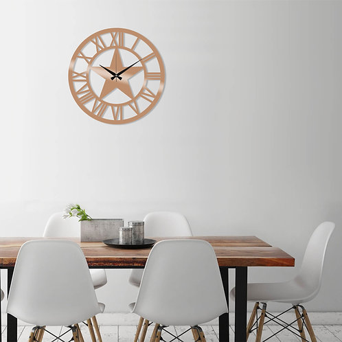 Metal Wall Clock 28 - Copper