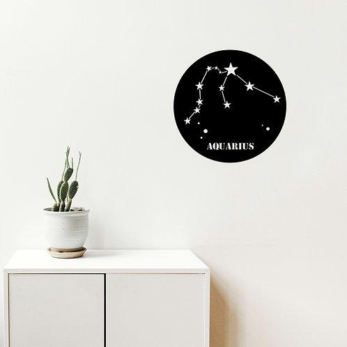 Aquar�us Horoscope - Black