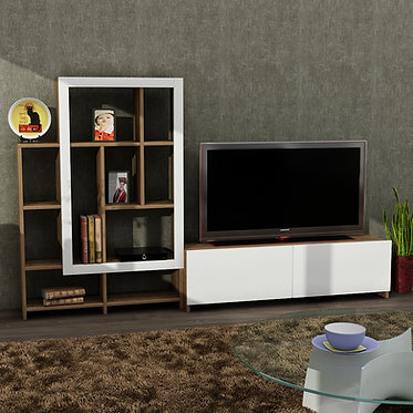 Parea - White, Walnut