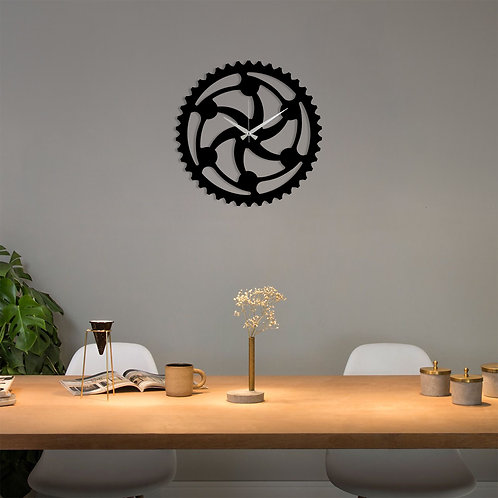 Metal Wall Clock 12 - Black