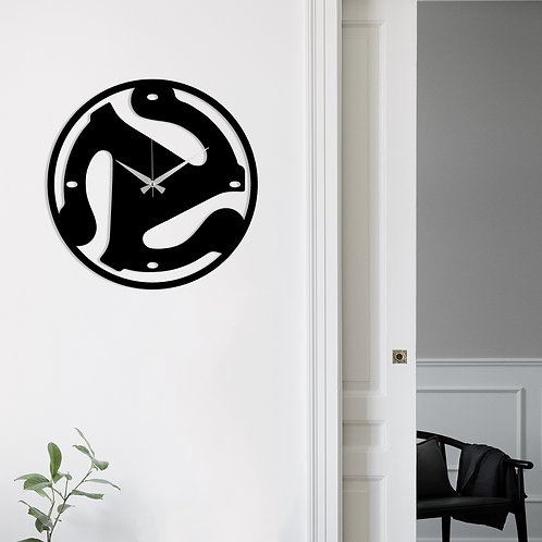 Metal Wall Clock 5 - Black