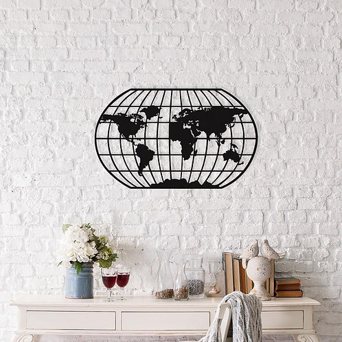 Oval World Map