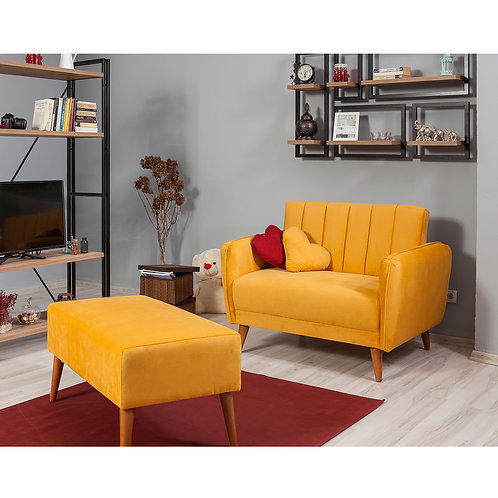 Aqua Loveseat - Yellow