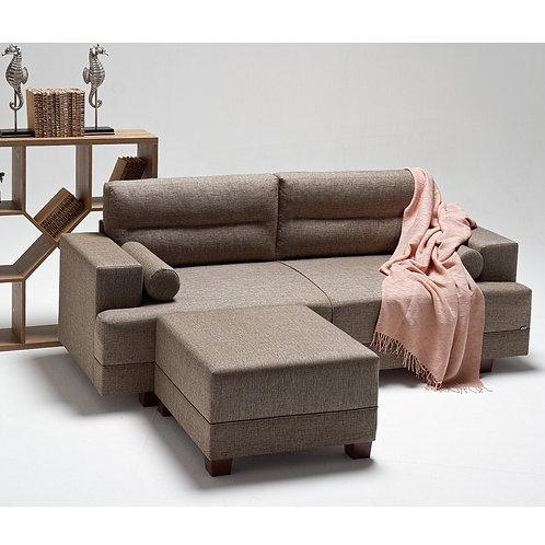 Oslo Corner Sofa - Brown