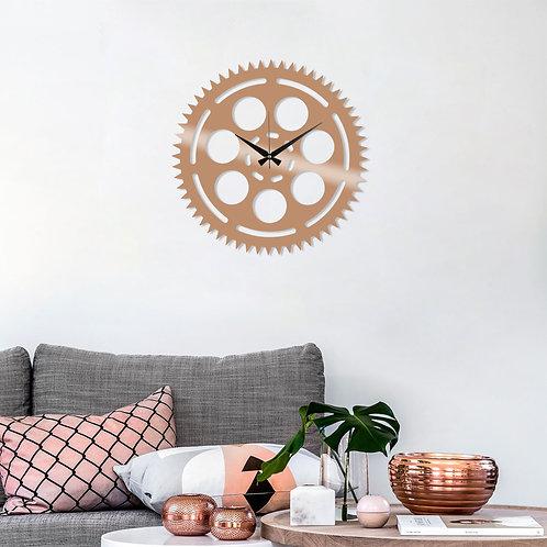 Metal Wall Clock 9 - Copper
