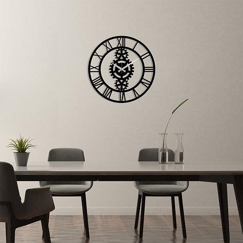 Metal Wall Clock 3 - Black