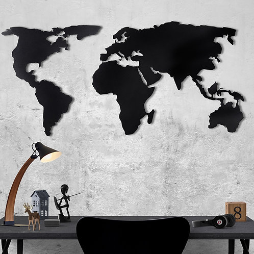 World Map Silhouette XL - Black