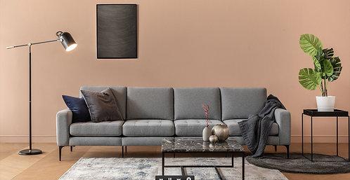 Normod 4 Seater - Grey, Black