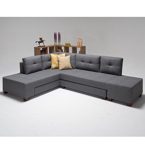 Manama Corner Sofa Bed Left - Grey