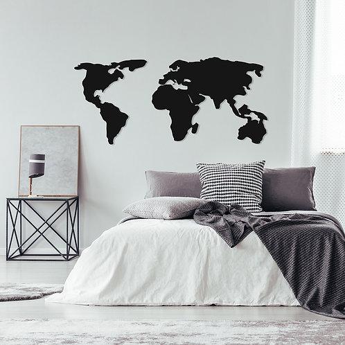 World Map 2 - Black
