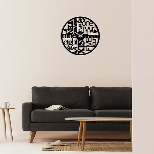 Metal Wall Clock 32 - Black
