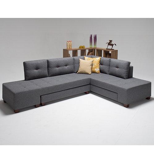 Manama Corner Sofa Bed Right - Grey