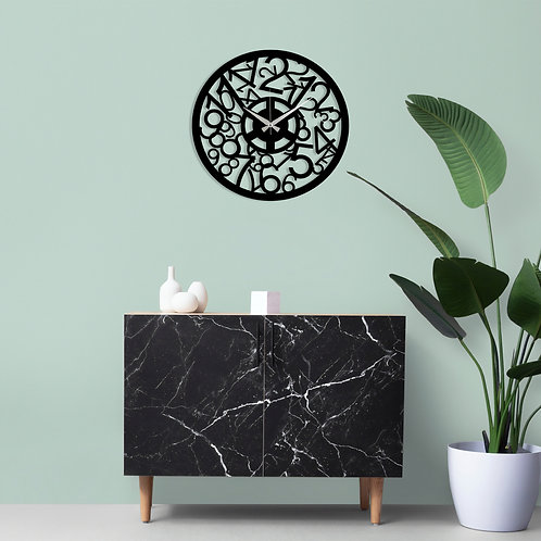 Metal Wall Clock 17 - Black