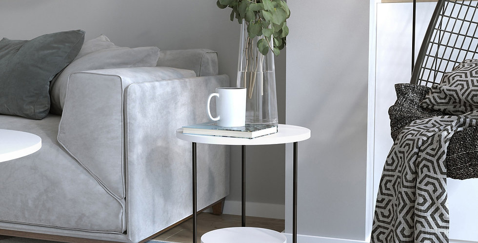 Corro Side Table - White