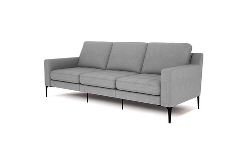 Normod 3 Seater - Grey, Black