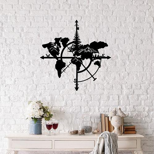 Compass Map Nature