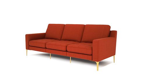 Normod 3 Seater - Red, Gold