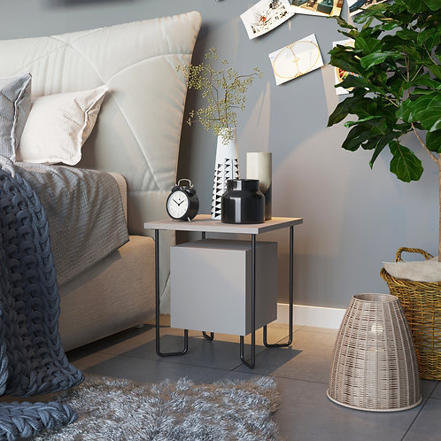 Acres Nightstand - Light Mocha