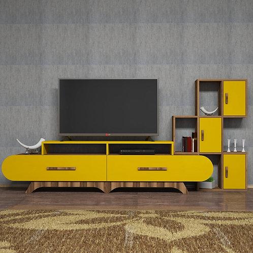 Flora S - Walnut, Yellow