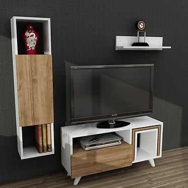 Novella K245 - White, Walnut